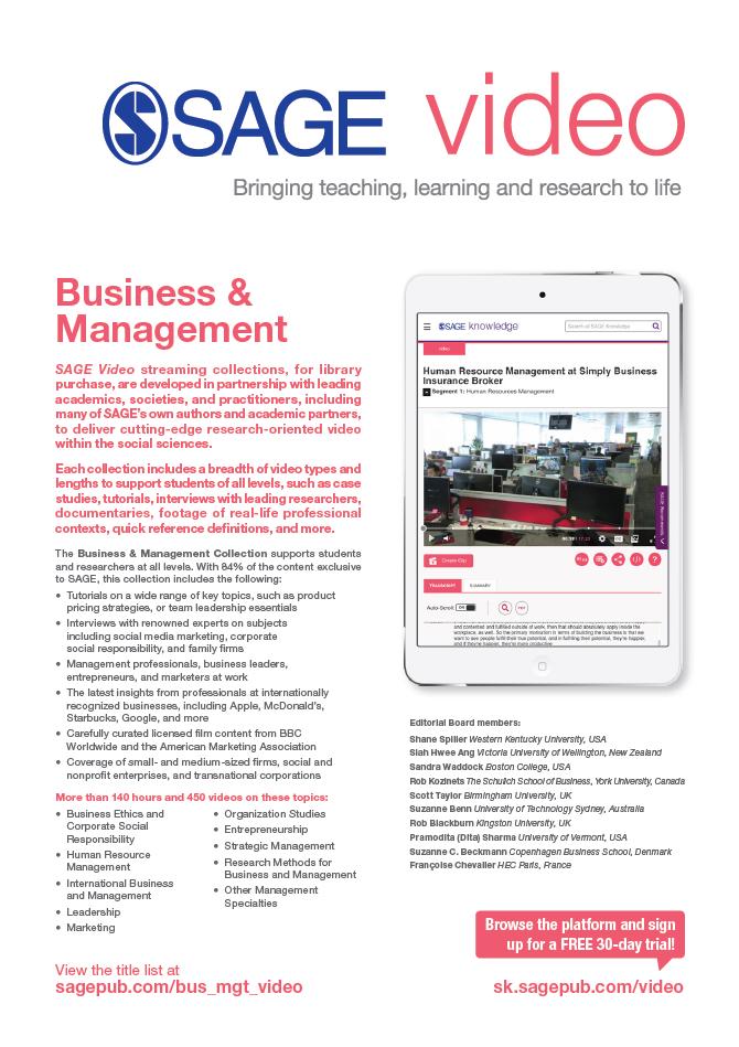 Image of SAGE Video Business Flyer