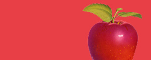 image of a red apple representing health and wellbeing