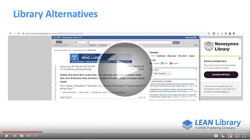 Lean Library Alternatives_video