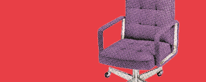 Image of a chair representing meet the author section