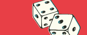 Image of dice representing study tools and tests section