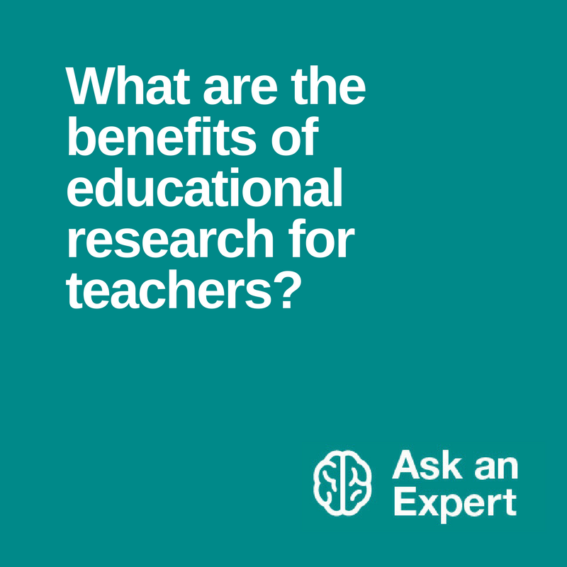 research ed benefits evidence based teaching