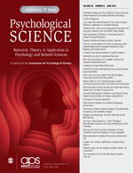 Psychological Science Cover